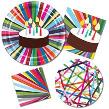 Premium paper plates and napkins for a bright and shiny birthday