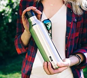 water bottle;bottle;cup;mug;coffee;tea;coffee mug;coffee thermos;portable mug;portable;portable cup