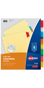Avery Insertable Dividers