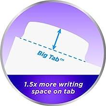 Avery Big Tab Dividers, bigger tabs, more writing space