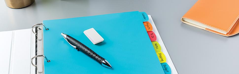 Avery Write and Erase Dividers, write erase and reuse, reusable dividers