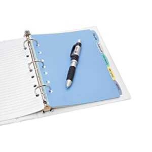 "Dividers for Mini Binders, Dividers for 11"" x 17"" Binders, Avery Write & Erase Dividers"