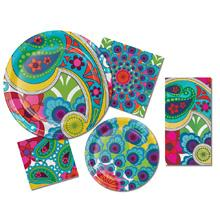 Wild flair in premium paper plates and napkins
