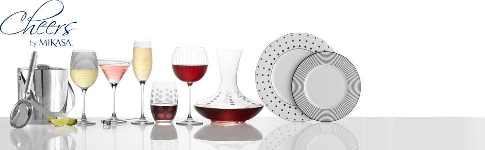 mikasa, cheers, bone china, dinnerware, serveware, glassware, stoneware, bone china