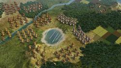 Large scale battle in Sid Meier's Civilization V