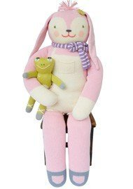 Blabla Fleur The Bunny Giant Plush Doll - Knit Stuffed Animal for Kids. Cute, Cuddly & Soft Cotton Toy. Perfect, Forever Cherished. Eco-Friendly. Certified Safe & Non-Toxic.