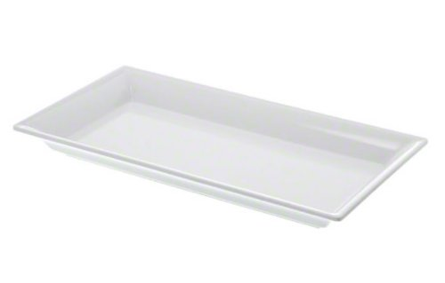 "American Metalcraft MEL19 Endurance Melamine Rectangular Platter, 14.25"" x 7.5"", White"