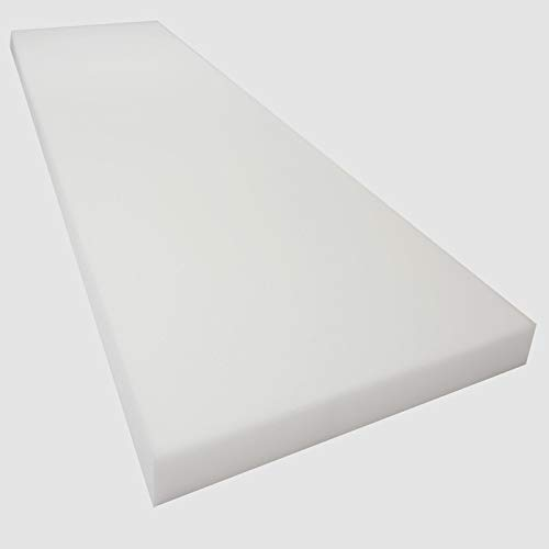 Mybecca 3H x 24W x 72L High Density Firm Upholstery Foam Sheet for Seat Replacement, Cross-Sectional Cushion Pad, Foam Padding, Boat Seat, Benches & Auto Car Seats