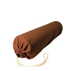 """Microfiber Bolster Covers by NRG - Round Massage Bolster Pillow Covers - 6"""" x 27"""" - 100% Polyester Microfiber - Soft & Durable - Protection from Stains & Oil - Drawstring Closure (Dark Chocolate)"""