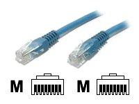 StarTech.com Cat5e Ethernet Cable - 8 ft - Blue - Patch Cable - Molded Cat5e Cable - Short Network Cable - Ethernet Cord - Cat 5e Cable - 8ft (M45PATCH8BL)