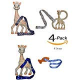 Toy Straps for Baby Strollers High Chair Leash for Teether Pacifier Sippy Cup 8pc (Blue/Black)