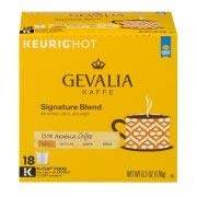 Gevalia Signature Blend Coffee K-Cup Pods 18 ct Box