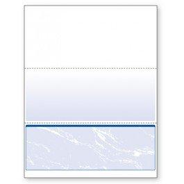 Blank Computer Checks for Laser & Ink Jet Printers, Pack of 100 Sheets (Blue Bottom)
