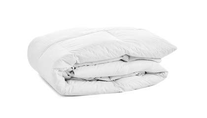 OrganicTextiles Bamboo Comforter with Organic Cotton Cover (Queen - White) - Wood Fiber Filling, GOTS-Certified Soft, Fluffy Comfort, Eco Friendly, Box Stitched for Loft Stability