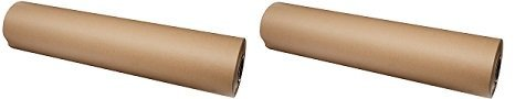 Kraft Paper Roll 36 X 1800 Inch - Brown Craft Paper Table Cover Packing Wrapping Paper 2 Rolls