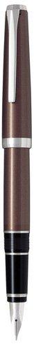 PILOT Metal Falcon Collection Fountain Pen, Brown Barrel, Fine Nib (60572)