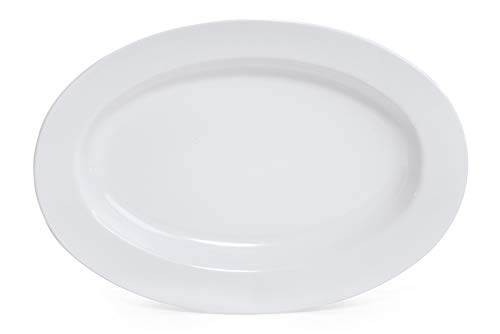 "G.E.T. Enterprises ML-15-W 18"" x 13"" Oval Platter, White"
