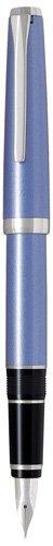 PILOT Metal Falcon Collection Fountain Pen, Sapphire Barrel, Fine Nib (60571)