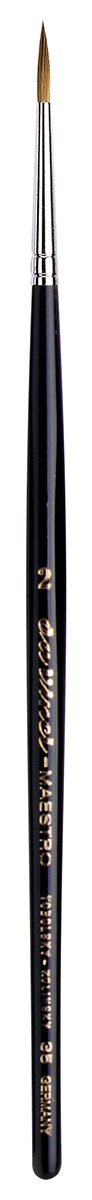 da Vinci Watercolor Series 35 Size 2 - Long Tapered Round - Maestro Kolinsky Red Sable - Extra Long Taper at The tip - Handmade in Germany