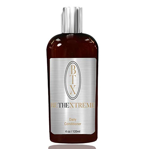BTX Keratin Cure Hair Conditioner Argan Oil Sulfate Free Vitamins for Dry and Damaged Hair Silk Proteins & Keratin All Hair Types Women & Men Beards & Teens, Kids Safe Color Treated 120ml/ 4 fl oz
