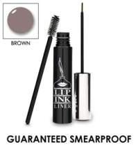 LIP INK Liquid Brow Liner - Brown | Natural & Organic Makeup for Women by Lip Ink International | 100% Organic, Kosher, Vegan