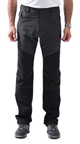 svacuam Men's Outdoor Sports Quick Dry Gym Running Pants Zipper Pockets(Dark Grey,32x32)