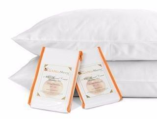 PeachSkinSheets Night Sweats: The Original 1500tc Soft Standard Pillowcase Set Harvest Gold