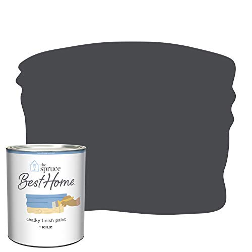 The Spruce Best Home by KILZ 15404 Chalky Finish Paint, 1 Quart, SPR-C16 Elevated Black