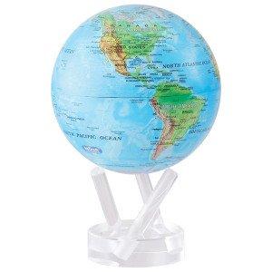 "Mova Relief Map Blue Globe 6"""