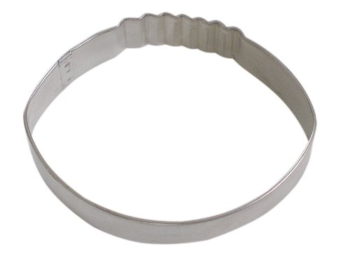R&M Football Cookie Cutter, 3.5-Inch, in Durable, Economical, Tinplated Steel