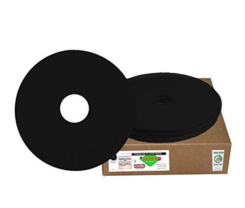 "Sanico MVP Reliever 17"" Black Stripping Floor Pad Wet Strip (5 per case) -(1 CASE)"