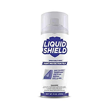 Liquid Shield - Sprayable Paint Protection Film (PPF) - Clear Vinyl Wrap - Protects Car Paint, Wheels and Accessories - (Incl. 1x Spray Can 11 Ounces   2 Square Feet)