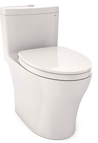TOTO MS646124CEMFG#11 AQUIA IV 1PC UH Toilet WSHLT + W/SEAT 1.28/0.8GPF COL, Colonial White