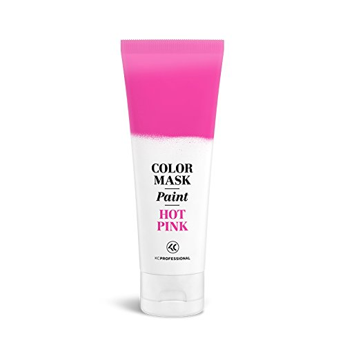 Color Mask Paint Semi-Permanent Hot Pink Hair Color Cream - Color Mask Paint, Direct Hair Dye 2.55 oz (Hot Pink)