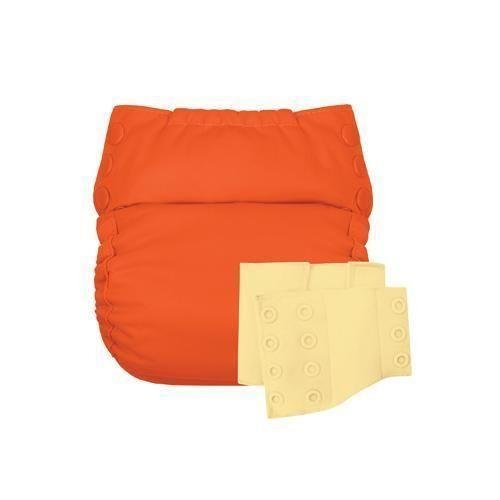 Flip Reusable Potty Training Cloth Diaper - Shell with Side Panels (Sassy/Butternut)
