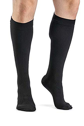 SIGVARIS Men's DYNAVEN Closed Toe Calf-High Socks 15-20mmHg