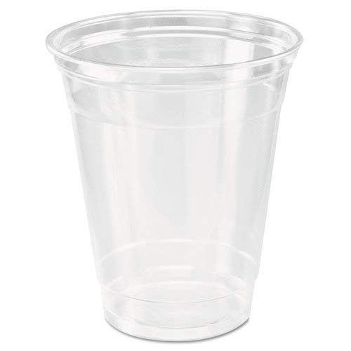 [200 COUNT] 12oz Clear Plastic Disposable Cups - Premium 12 oz (ounces) Crystal Clear PET Cup (No Lids) for Cold Drinks Iced Coffee Tea Juices Smoothies Slush Soda Cocktails Beer Sundae Kids Safe