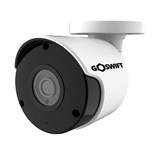 Goswift 4K Ultra HD Weatherproof Bullet Security IP Camera 8MP 3840x2160, 100 Foot Night Vision, 3.6mm Wide Angle Lens, POE, Onvif