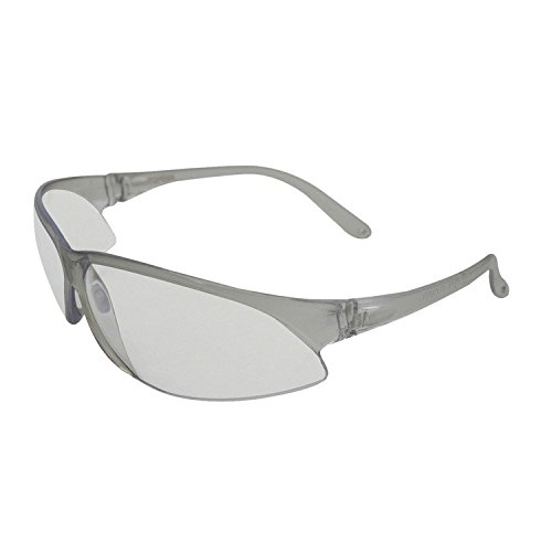 ERB 16503 Superbs Safety Glasses, Silver Frame with Clear Lens