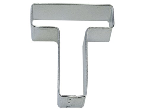 R&M Letter T Cookie Cutter in Durable, Economical, Tinplated Steel