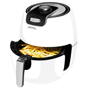 JEFAL 3.5QT Air Fryer, 1500W, Electric Air Fryer Oven Cooker, Oil-Free Healthy Cooking, With Removable, Dishwasher-Safe Basket, White + Black