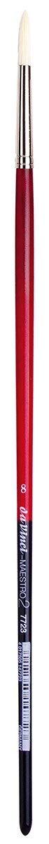 da Vinci Hog Bristle Series 7723 Maestro 2 Artist Paint Brush, Round with European Sizing, Size 8