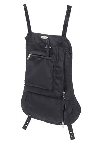 Attachable Diaper Bag: Snaps on baby carriers, and strollers for hands free parenting for active families. Diapers, wipes, wallet, keys, phone, snack, toys, fit together in this diaper bag. (Black)