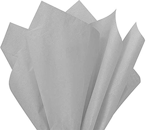 Flexicore Packaging |Cool Gray Gift Wrap Tissue Paper | Size: 15 Inch X 20 Inch | Count: 10 Sheets | Color: Cool Gray | DIY Craft, Art, Wrapping, Crepe, Decorations, Pom Pom, Packing & Party