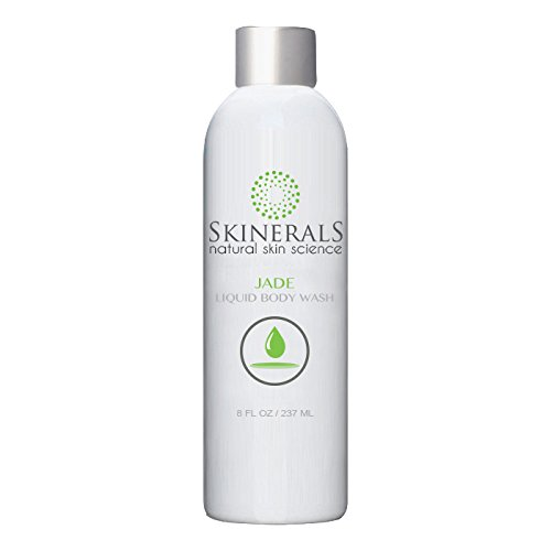 Skinerals Liquid Body Wash Soap with Organic and Natural Ingredients Sulfate Free Safe for Self Tanners Moisturize Skin (Jade Body Wash)