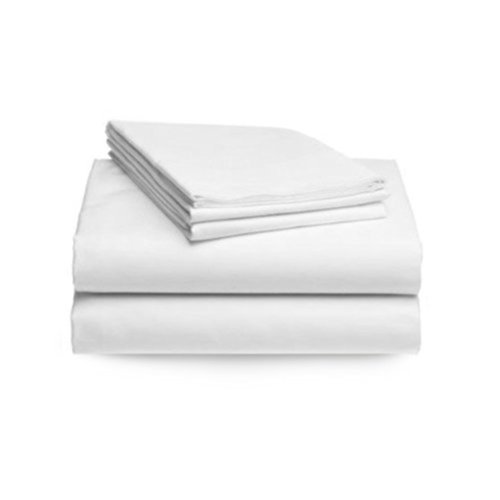 Organic Cotton Bed Sheet Set 410 Thread Count 3 Piece Set, Twin XL Size White [GOTS Certified] Soft and Luxurious Made in India - 1 Fitted Bed Sheet + 1 Flat Bed Sheet + Pillowcases Set Included