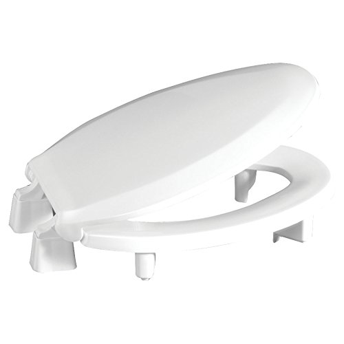 """Centoco 3L800STS-001 Elongated 3"""" Lift, Raised Plastic Toilet Seat, Closed Front with Cover, ADA Compliant Handicap Medical Assistance Seat, White"""
