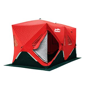 FERRET 6-8 Person Pop Up Ice Fishing Shelter Waterproof Portable Insulated Ice Fishing Tent