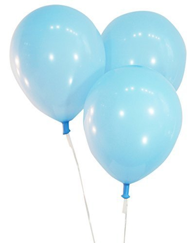 """Creative Balloons 12"""" Latex Balloons - Pack of 100 Pieces - Pastel Baby Blue"""