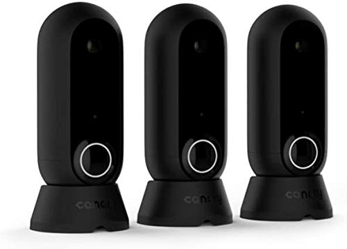 Canary: Flex 3 Camera Pack + 1-Year Plan | Indoor Outdoor WiFi HD Home Security | Night Vision, Weatherproof, Wireless/Plug in, Flexible, Motion Alerts (Alexa, iOS, Google, Android), Black